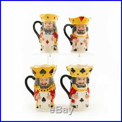 Royal Doulton KING & QUEEN PLAYING CARD JUGS Complete Set / mid-1990s Excellent