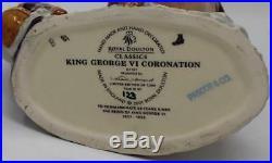 Royal Doulton King George VI D7167 & Queen Elizabeth II D7168 Character Jugs COA