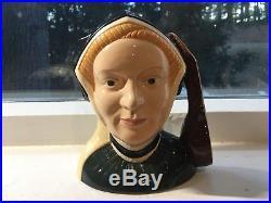Royal Doulton King Henry VII and All Six Wives Large Toby Mug Jugs RARE