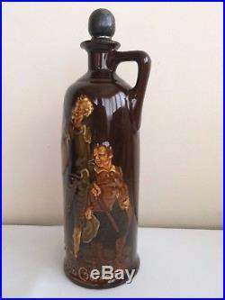 Royal Doulton Kingsware Don Quixote Whisky Flask Jug VERY RARE