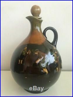Royal Doulton Kingsware Golf Golfing Whiskey Bottle Jug Flask VERY RARE