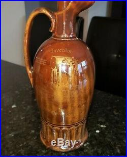 Royal Doulton Kingsware Richard Arkwright Dewar Whisky White Label Flask Jug
