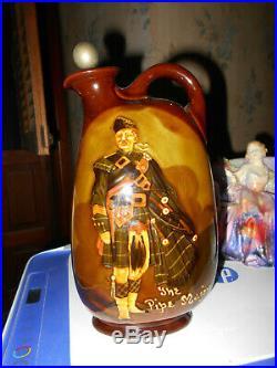 Royal Doulton Kingsware The Pipe Major Dewar's Whisky Jug Bottle 1910 Rare Art