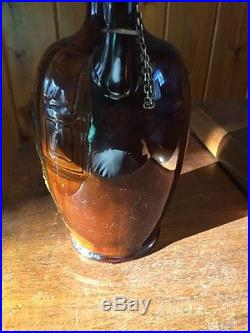 Royal Doulton Kingsware Whiskey Jug Series Ware Fagin with Silver Stopper