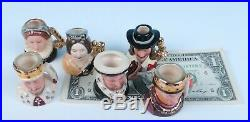 Royal Doulton LE 2500 Set 6 Kings & Queens of the Realm Tiny Toby Character Jug