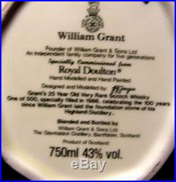 Royal Doulton LIQUOR CHARACTER JUG Wm GRANT MINT Cond in Original Box