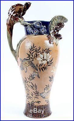Royal Doulton Lambeth Grotesque Jug Frog Mark V Marshall Arts and Crafts Fish