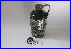 Royal Doulton Lambeth Jug with Lid -Brown, Blue, Green- Signed Emma Marriott