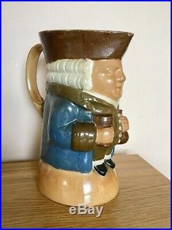 Royal Doulton Lambeth Salt Glazed stoneware Toby Jug c. 1915