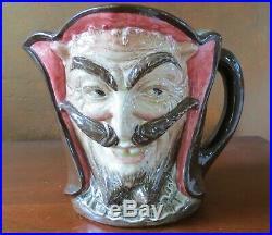 Royal Doulton Large 5 7/8 Mephistopheles Toby Jug Devil England