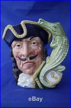 Royal Doulton Large Captain Hook Character Jug D6597