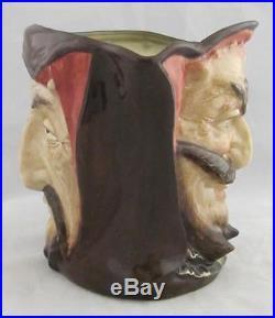 Royal Doulton Large Character 2 Sided Jug Mephistopheles D5757 No Verse