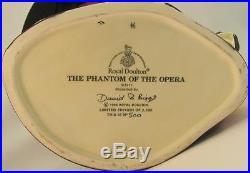 Royal Doulton Large Character Jug Phantom of the Opera Ltd Ed. #500 / 2500 & COA