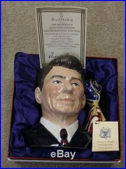 Royal Doulton Large Character Jug Ronald Reagan D6718 1353/2000 with COA & Box