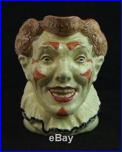 Royal Doulton Large Character Jug The Clown Brown Hair D5610 Made in England