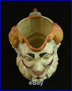 Royal Doulton Large Character Jug The Clown Red Hair D5610 Made in England