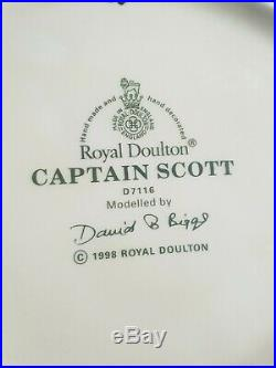 Royal Doulton Large Character Toby Jug Captain Scott D7116