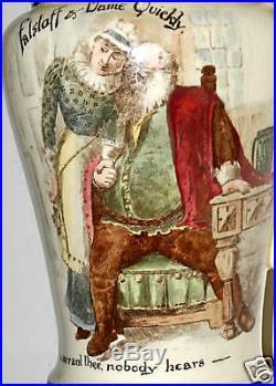 Royal Doulton, Large Mid-century Shakespeare Jug, Falstaff, Quickly, Very Rare