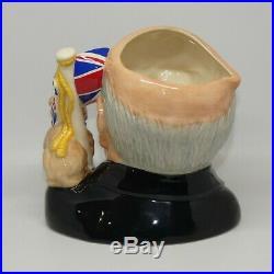 Royal Doulton Large size character jug D6907 Winston Churchill Bulldog Jug Year