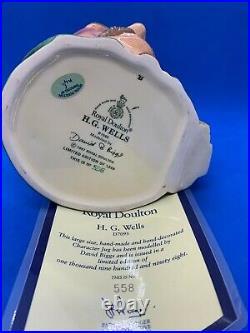Royal Doulton Ltd Edition Large Character Jug! H G Wells! D7095! + Cert! Mint