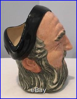Royal Doulton Merlin Large Character Jug D6529 Signed & Dated By Michael Doulton