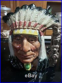 Royal Doulton North American Indian Character Jug D6611