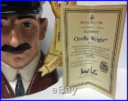 Royal Doulton Orville Wright Character Jug D7178 250 of 100