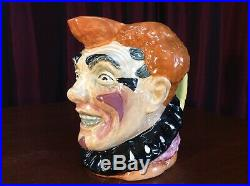 Royal Doulton Prototype / Color Trial The Clown Large Character Jug