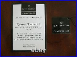 Royal Doulton Queen Elizabeth II Character Jug of the Year 2006 D7300 MIB