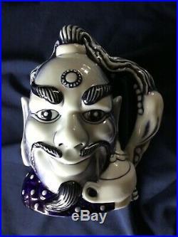 Royal Doulton Rare Blue Flambe Character Jug Aladdins Genie D6971. Mint