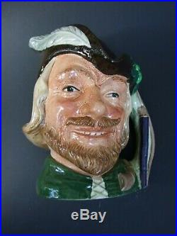Royal Doulton' Robin Hood''Embossed Character Toby Jug 1959's Vintage D 6527