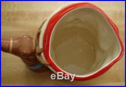 Royal Doulton Santa Toby Mug Jug D-6675 Reindeer Handle - 7 1/4 Large