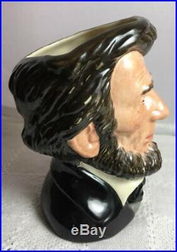 Royal Doulton Signed Abraham Lincoln Presidential Series Toby Mug Jug 1992