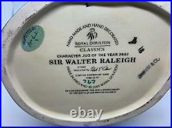 Royal Doulton Sir Walter Raleigh Large Character Toby Jug
