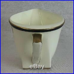 Royal Doulton Tango V1482 Milk Jug Art Deco Red Black Gold