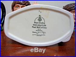 Royal Doulton The Beatles Mugs 1984 Set of 4 John Paul George Ringo Toby Jugs