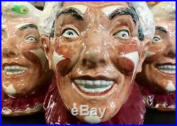Royal Doulton The CLOWN /White Hair Character Jug D6322 Inspired S. Kings IT