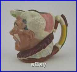 Royal Doulton'The Clown' White Hair Large Character Jug D6558