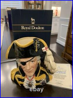 Royal Doulton Toby Jug Vice-admiral Lord Nelson Large D6932 Jug Of The Year 93