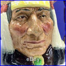 Royal Doulton Toby mug jug cup North American Indian D6611 figurine 1966 vtg mcm