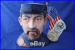 Royal Doulton U. S. Wars CIVL War 2 Faced Character Jug 001/350 D7266 New Boxed