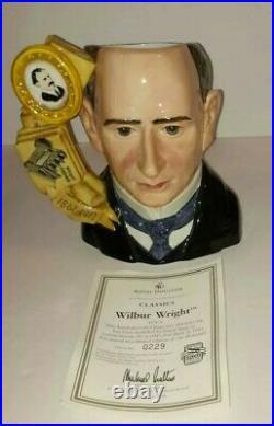 Royal Doulton Wilbur Wright Character Jug D7179 Ltd Edition 229/1000 Rare Coa