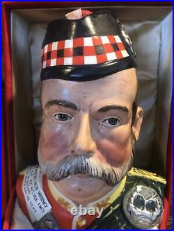 Royal Doulton William Grant Character Scotch Whiskey Jug/Decanter Original Box