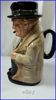 Royal Doulton Winston Churchill Large 9 Toby Mug Jug Pitcher