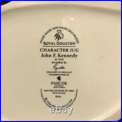 Royal Doulton'john F Kennedy' D7246 2006 Large Toby Jug 255/1000 Very Rare