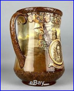 Royal Doulton -queen Elizabeth II Coronation, 1953- Erii Loving Cup Jug Vase