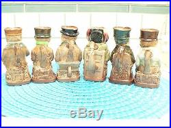 Royal Doulton seated toby jug Pickwick set of 6 A marks