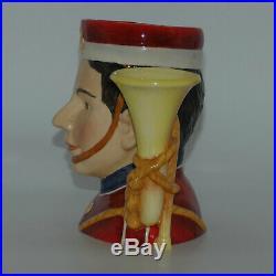 Royal Doulton small character jug Ltd Ed North Staffordshire Bugler D7213
