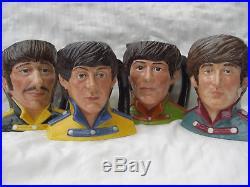 Royal doulton. Beatles. Toby jugs. Sgt Pepper. Not rolling stones. Character jug