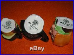SET OF 12 ROYAL DOULTON Tiny DICKENS CHARACTER TOBY JUGS WITH DISPLAY SHELF